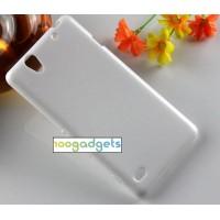 Силиконовый матовый чехол для Sony Xperia C4 Белый