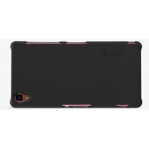 Пластиковый матовый нескользящий премиум чехол для Sony Xperia M4 Aqua Черный