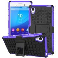 Силиконовый чехол экстрим защита для Sony Xperia M4 Aqua Фиолетовый