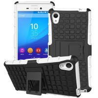 Силиконовый чехол экстрим защита для Sony Xperia M4 Aqua Белый