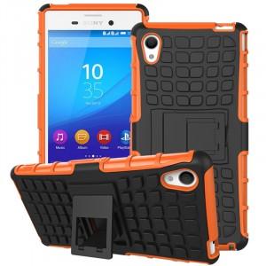 Силиконовый чехол экстрим защита для Sony Xperia M4 Aqua Оранжевый