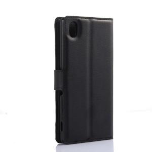 Чехол портмоне подставка с защелкой для Sony Xperia M4 Aqua Черный