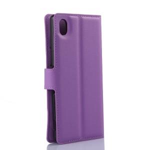 Чехол портмоне подставка с защелкой для Sony Xperia M4 Aqua Фиолетовый
