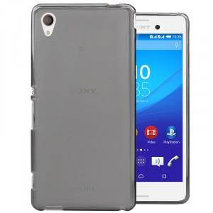 Силиконовый матовый полупрозрачный чехол для Sony Xperia M4 Aqua Черный