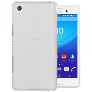 Силиконовый матовый полупрозрачный чехол для Sony Xperia M4 Aqua Белый
