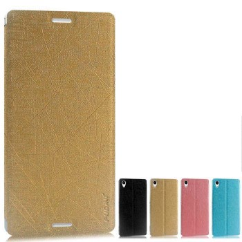 Текстурный чехол флип подставка на присоске для Sony Xperia M4 Aqua