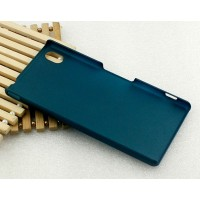 Пластиковый матовый металлик чехол для Sony Xperia M4 Aqua Зеленый