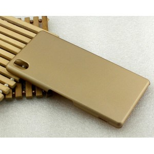 Пластиковый матовый металлик чехол для Sony Xperia M4 Aqua