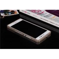 Металлический бампер для Huawei Ascend P7 Бежевый