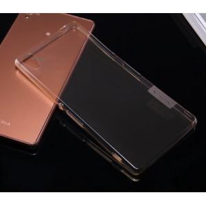 Силиконовый матовый полупрозрачный премиум чехол повышенной защиты для Sony Xperia M4 Aqua Коричневый