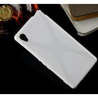 Силиконовый X чехол для Sony Xperia M4 Aqua Белый