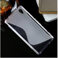Силиконовый S чехол для Sony Xperia M4 Aqua Серый