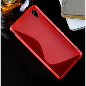 Силиконовый S чехол для Sony Xperia M4 Aqua Красный