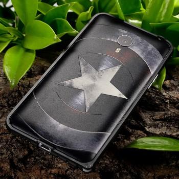 Двухкомпонентный чехол металлический бампер с дизайнерской принтованной поликарбонатной встраиваемой крышкой для Meizu MX4