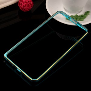 Металлический бампер с золотой окантовкой для Asus Zenfone 2