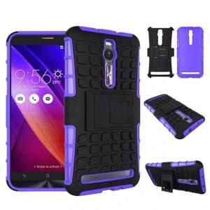 Силиконовый чехол экстрим защита для Asus Zenfone 2 Фиолетовый