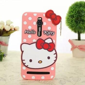 Силиконовый дизайнерский фигурный чехол Hello Kitty для Asus Zenfone 2