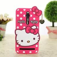 Силиконовый дизайнерский фигурный чехол Hello Kitty для Asus Zenfone 2 Пурпурный