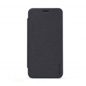 Чехол флип на пластиковой нескользящей матовой основе для Asus Zenfone 2 5 Черный