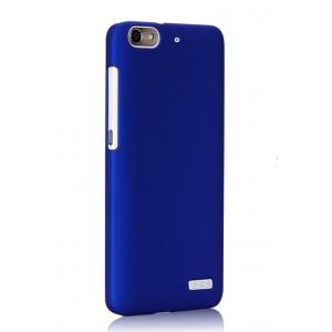 Пластиковый матовый непрозрачный чехол для Huawei Honor 4C Синий