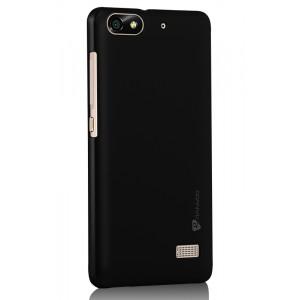 Пластиковый матовый металлик чехол для Huawei Honor 4C Черный