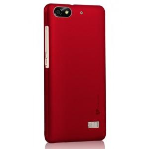 Пластиковый матовый металлик чехол для Huawei Honor 4C Красный
