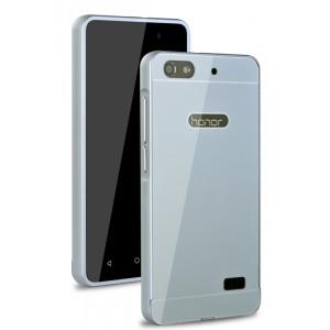 Двухкомпонентный чехол с металлическим бампером и поликарбонатной накладкой для Huawei Honor 4C