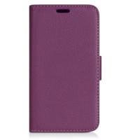 Чехол портмоне подставка на пластиковой основе с защелкой для LG Magna Фиолетовый