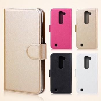 Текстурный чехол портмоне на пластиковой основе с магнитной застежкой для LG G4c