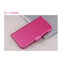 Текстурный чехол портмоне на пластиковой основе с магнитной застежкой для LG Magna Пурпурный