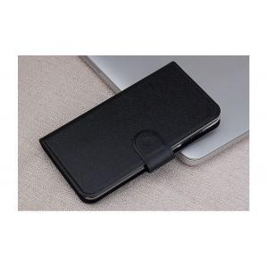 Текстурный чехол портмоне на пластиковой основе с магнитной застежкой для LG Magna
