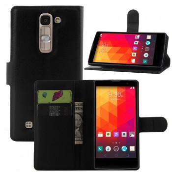Чехол портмоне подставка на пластиковой основе с защелкой для LG G4c