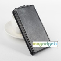 Чехол вертикальная книжка на силиконовой основе с магнитной застежкой для LG Magna Черный