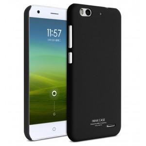 Пластиковый матовый непрозрачный чехол для ZTE Blade S6 Plus Черный