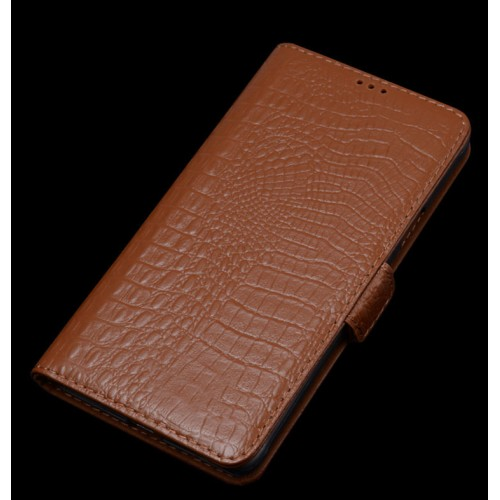Кожаный чехол портмоне (нат. кожа крокодила) для Samsung J1