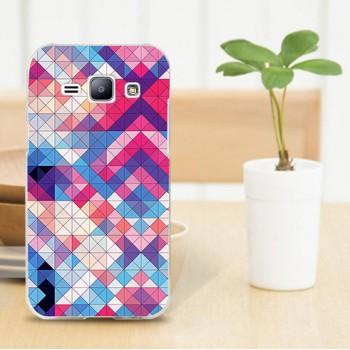 Пластиковый матовый дизайнерский чехол с УФ-принтом для Samsung J1