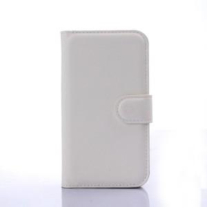 Чехол портмоне подставка с защелкой для Samsung J1 Белый