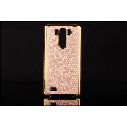 Пластиковый дизайнерский чехол с эффектом позолоты для LG Optimus G3
