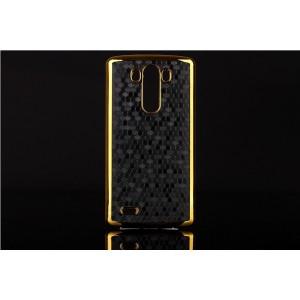 Пластиковый дизайнерский чехол с эффектом позолоты для LG Optimus G3 Черный
