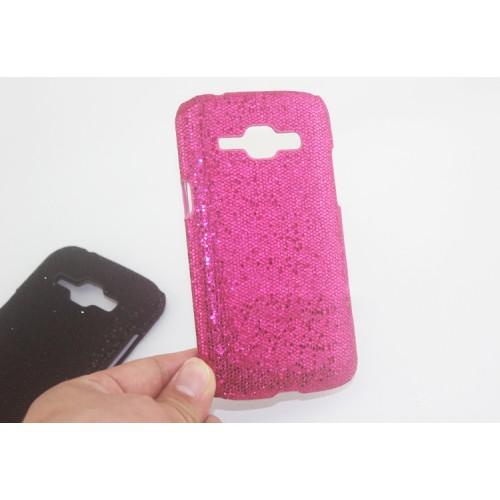 Пластиковый матовый чехол с аппликацией из пайеток для Samsung J1