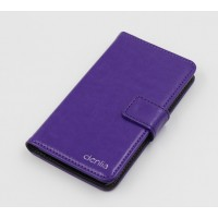 Чехол портмоне подставка на силиконовой основе с магнитной защелкой для Alcatel One Touch Idol 3 (4.7) Фиолетовый