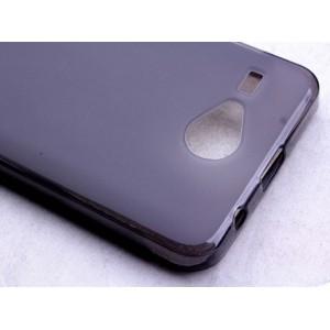 Силиконовый матовый полупрозрачный чехол для Acer Liquid Z520 Черный