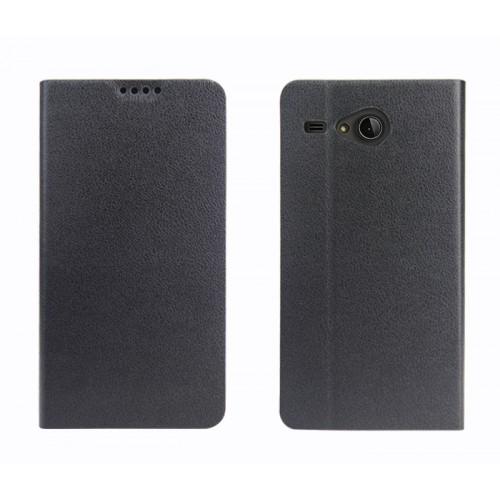 Чехол флип подставка на силиконовой основе с внутренним карманом для Acer Liquid Z520 Черный