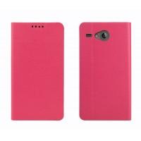 Чехол флип подставка на силиконовой основе с внутренним карманом для Acer Liquid Z520 Розовый