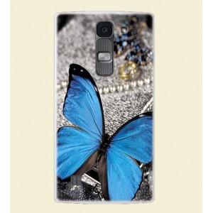 Силиконовый дизайнерский чехол с принтом для LG Spirit
