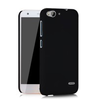 Пластиковый матовый непрозрачный чехол для ZTE Blade S6/S6 Lite Черный