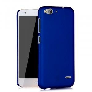 Пластиковый матовый непрозрачный чехол для ZTE Blade S6/S6 Lite Синий