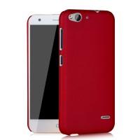Пластиковый матовый непрозрачный чехол для ZTE Blade S6/S6 Lite Красный
