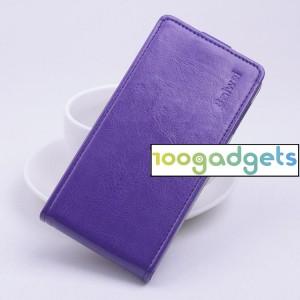 Чехол вертикальная книжка на силиконовой основе с магнитной застежкой для ZTE Blade S6/S6 Lite Фиолетовый
