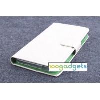 Текстурный чехол флип подставка с защелкой для ZTE Blade S6/S6 Lite Белый